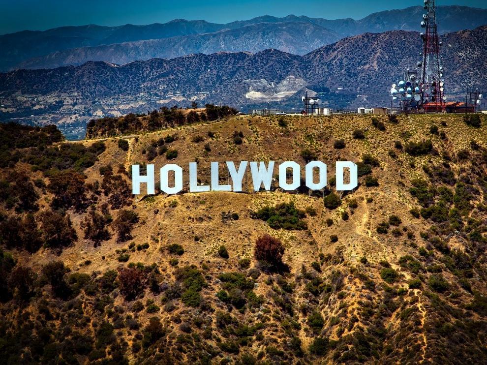 Icónico cartel de Hollywood en California