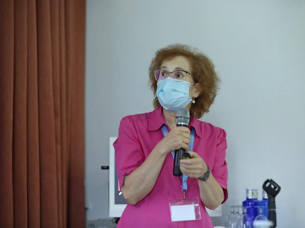 La investigadora Margarita del Val a finales de julio en un acto en San Lorenzo de El Escorial.