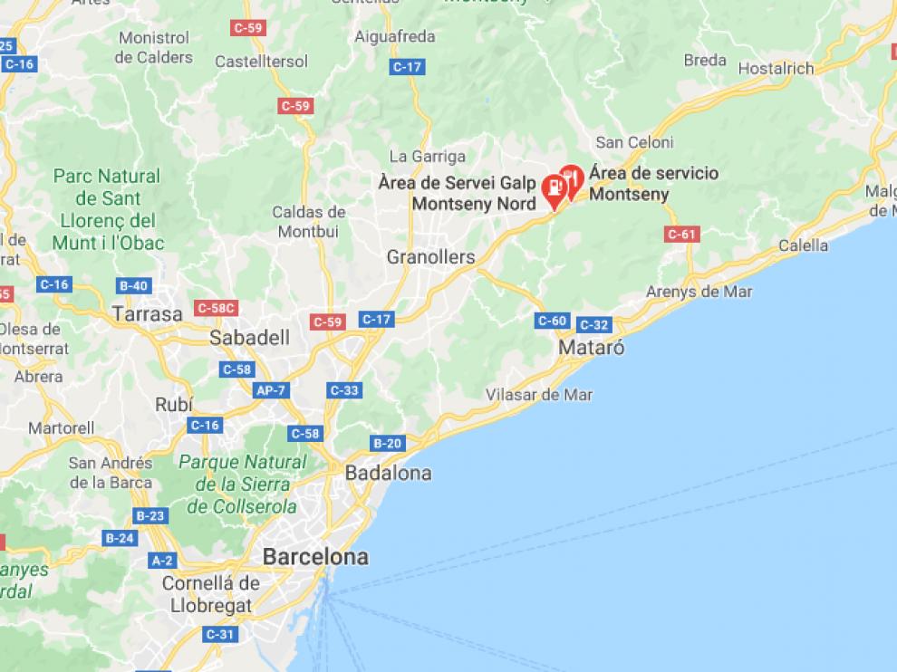 El suceso tuvo lugar en el área de servicio de Montseny Norte, en la AP-7.