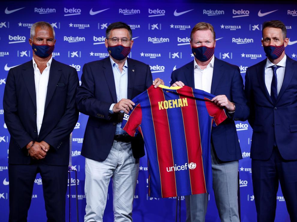 Presentacion Ronald Koeman nuevo entrenador FC Barcelona