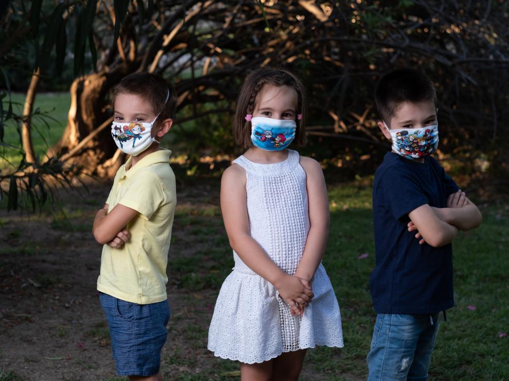 Urvina y Heraldo de Aragón ofrecen mascarillas infantiles con todas las garantías.
