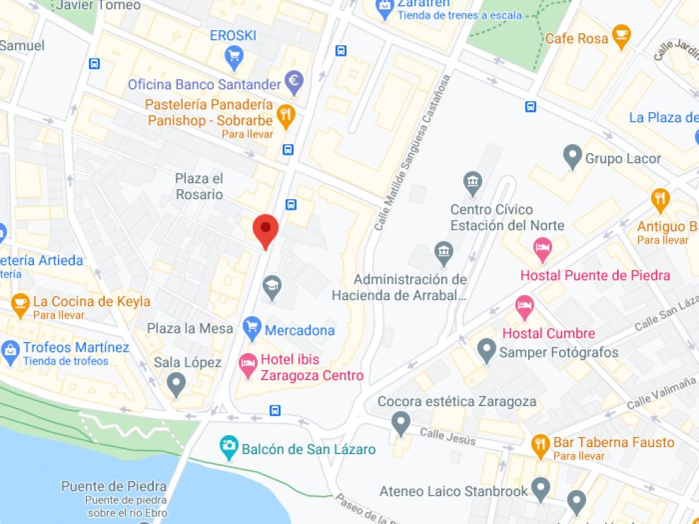 Los robos tuvieron lugar en la calle de Sobrarbe en Zaragoza.
