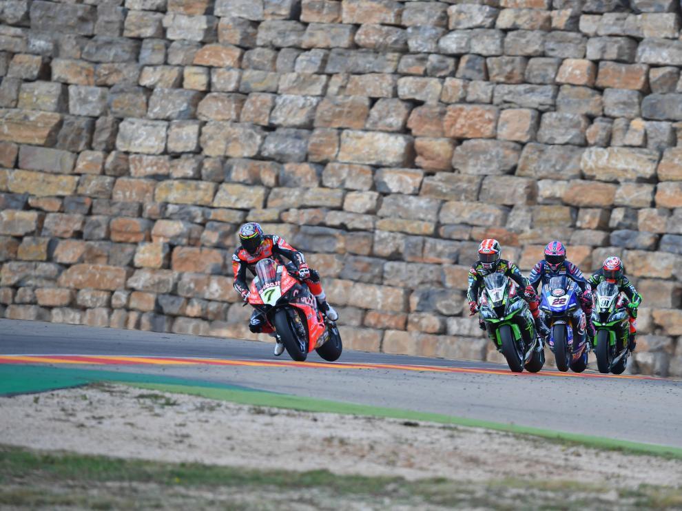 El año pasado, Álvaro Bautista se hizo con la victoria en las tres carreras del 'round' de Aragón.