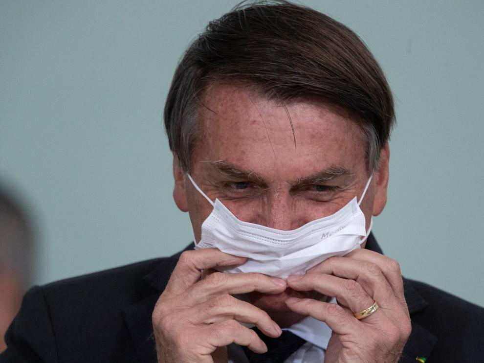 El presidente Jair Bolsonaro participa en un acto el lunes en Brasilia.