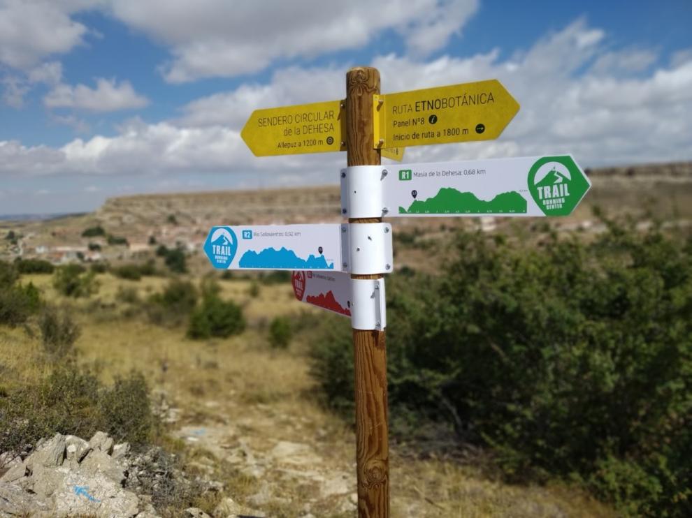 Señalización del circuito de Trail Running de Allepuz.