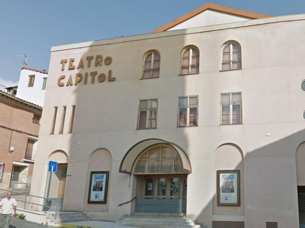 Fachada del Cine Capitol de Calatayud.