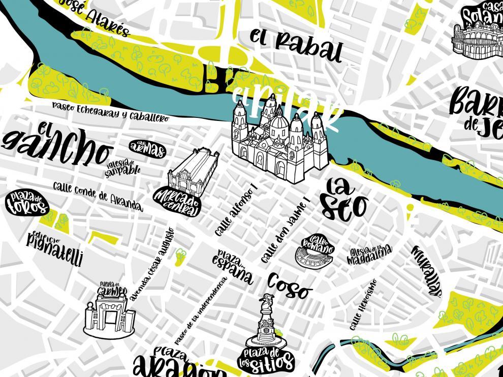 Mapa interactivo de Zaragoza capital