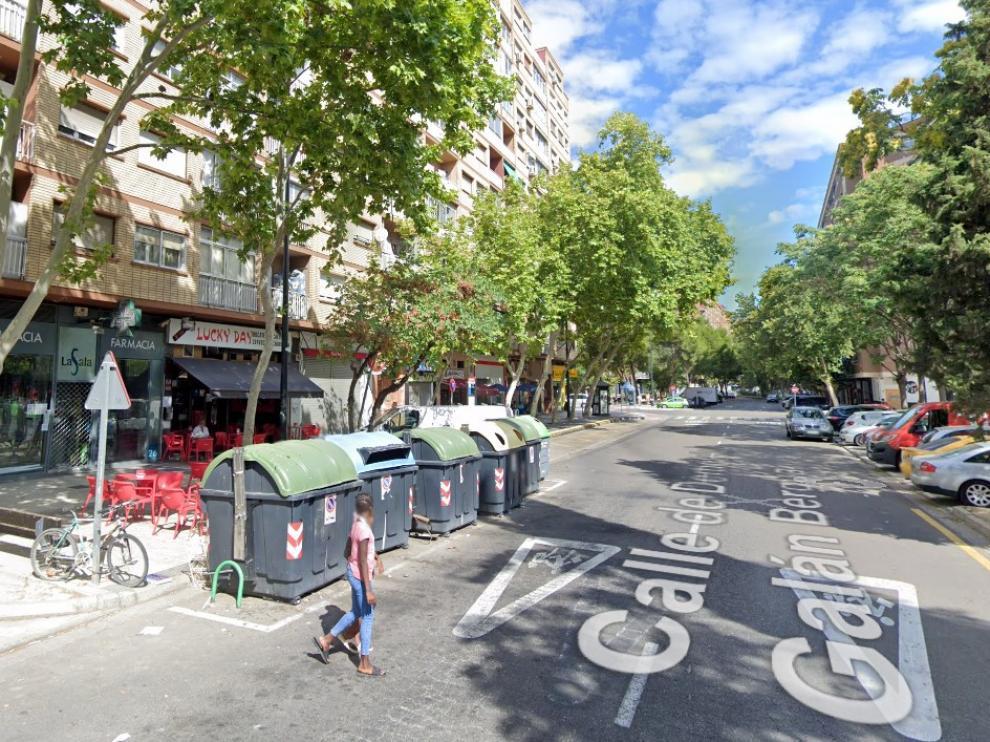 La calle de Galán Bergua, en el barrio de las Delicias.