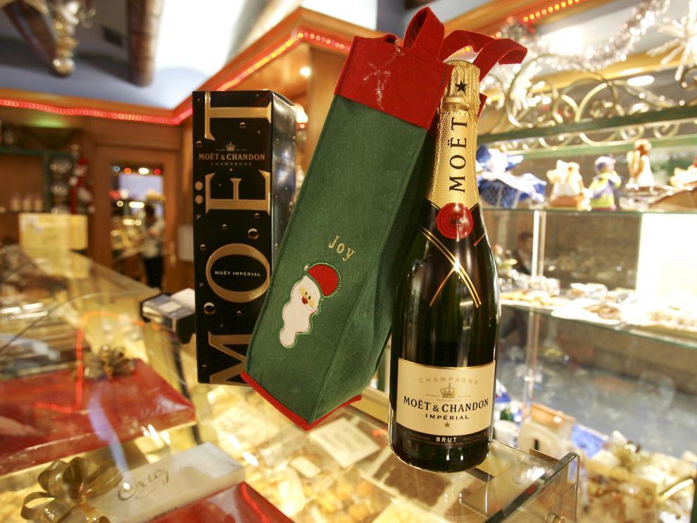 Una botella de champán Moët & Chandon.