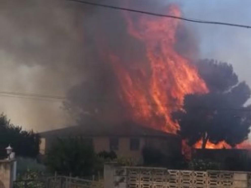 Incendio en Garrapinillos