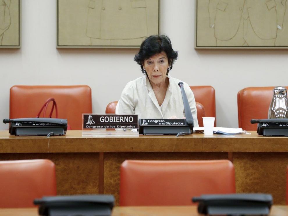 Una imagen del a Ministra de Educación, Isabel Celaá.
