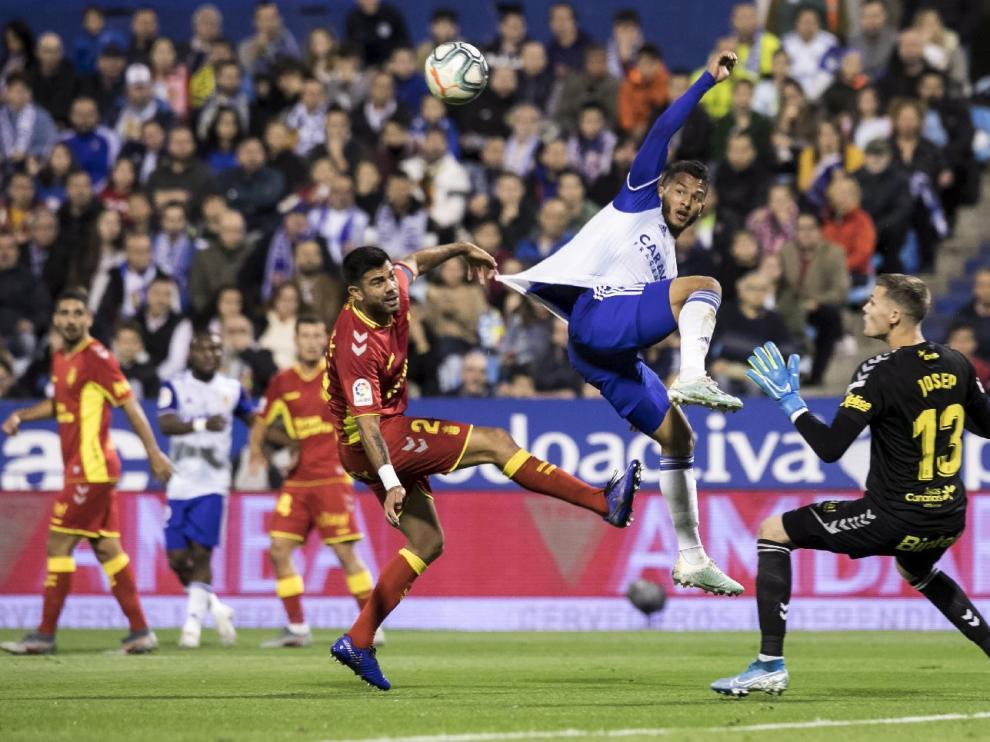 Imagen del Real Zaragoza-Las Palmas de la liga pasada, que ganó el equipo aragonés por 3-0 en noviembre.