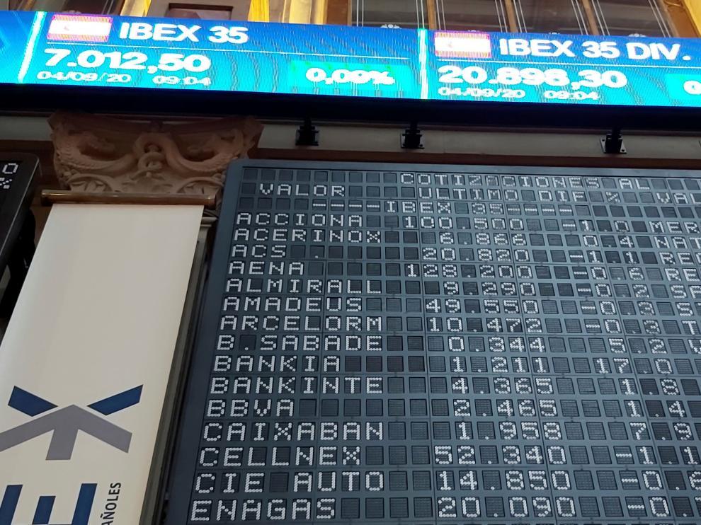 Apertura del Ibex con subidas en Bankia y Caixabank.