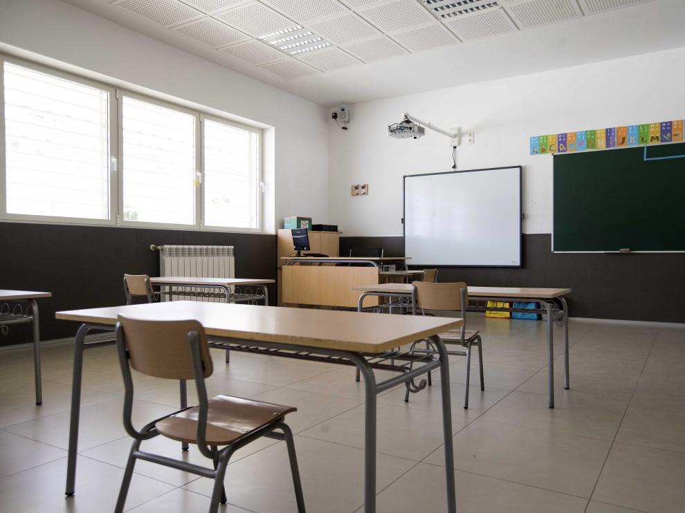 Aula del colegio San Jorge de Valdespartera.