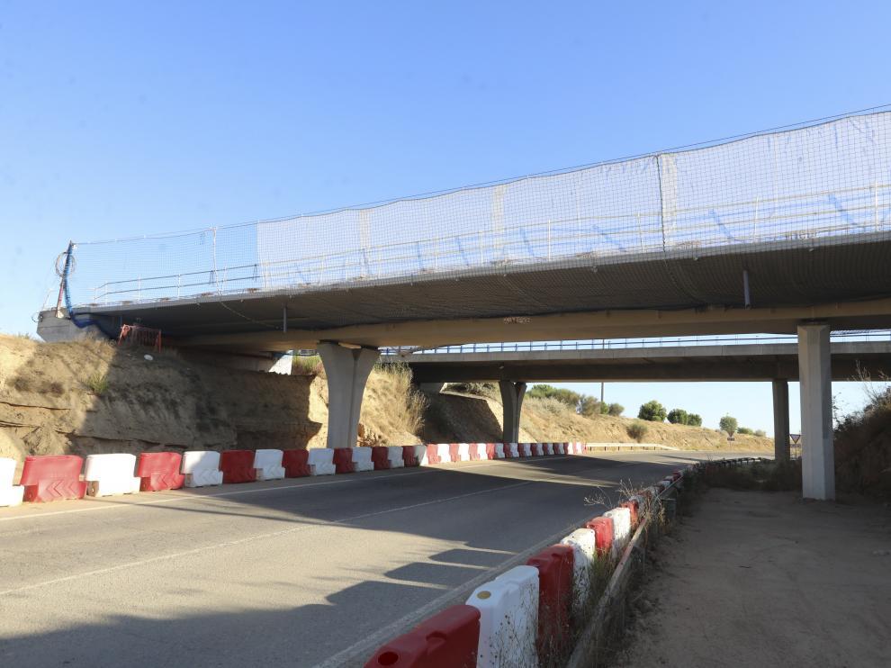 Una de las ocho nuevas estructuras en las que se está trabajando entre Huesca y Siétamo.