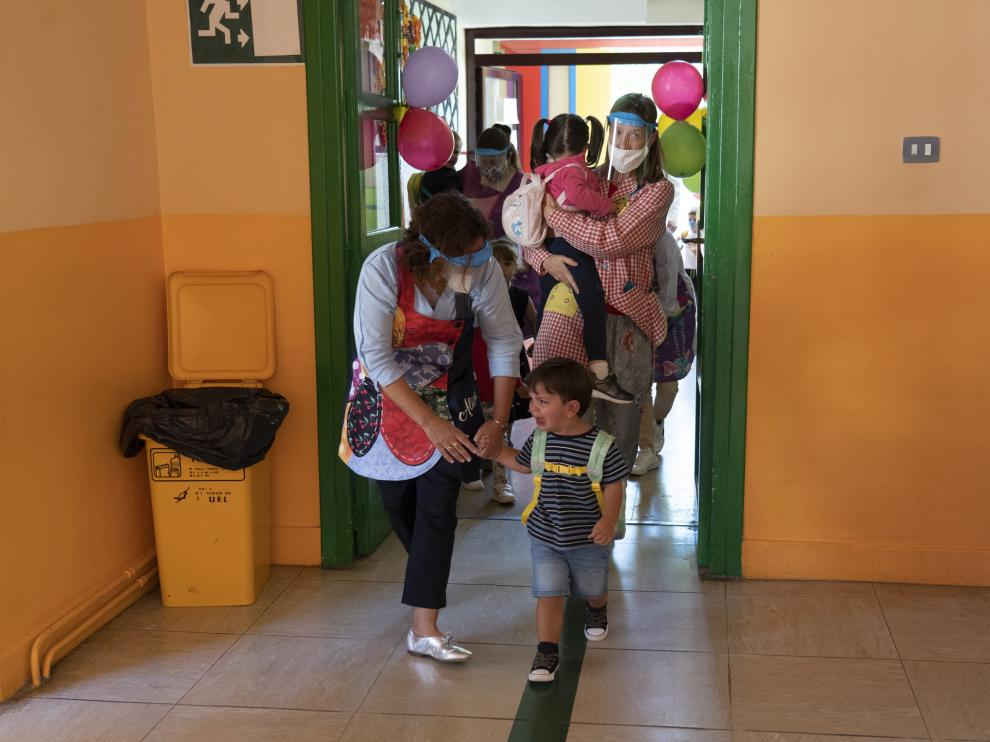 Vuelta al cole en Teruel, colegio Ensanche