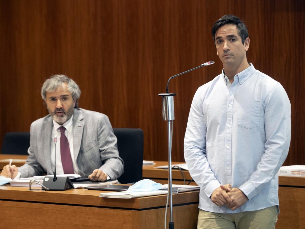 Rodrigo Lanza presta declaración esta mañana en el juicio del jurado del crimen de los tirantes.