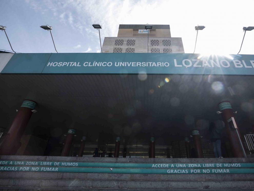 Fachada del Hospital Clínico Universitario Lozano Blesa de Zaragoza