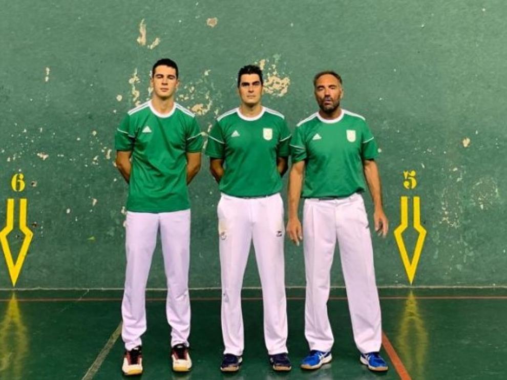 Javier Insausti, Arturo Contamina y David Caballero.