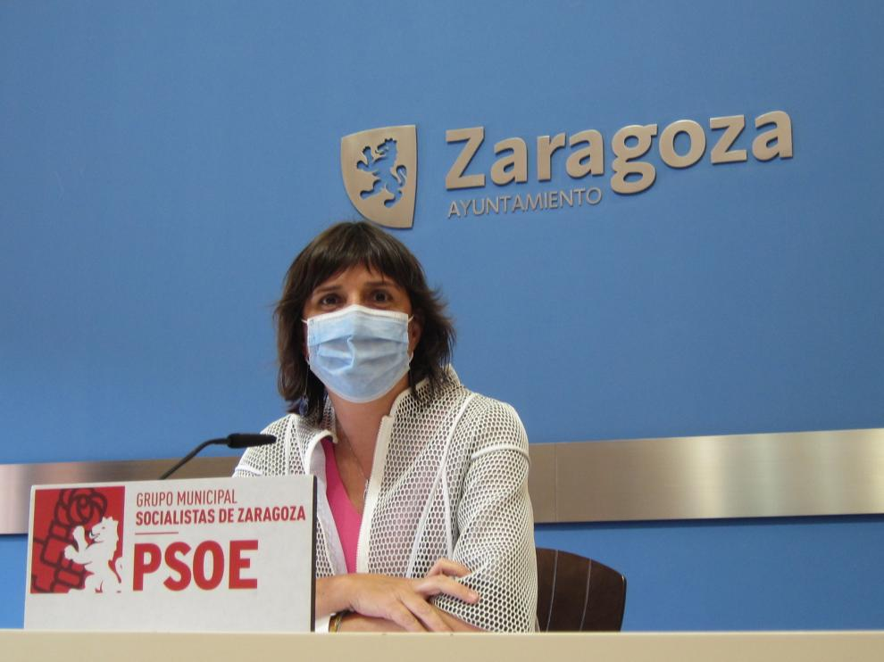 Lola Ranera, portavoz del PSOE en el Ayuntamiento de Zaragoza.