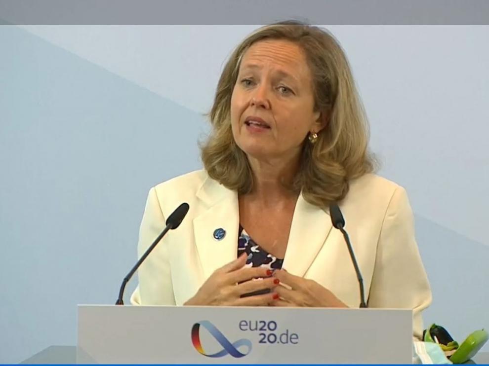 La vicepresidenta Nadia Calviño.