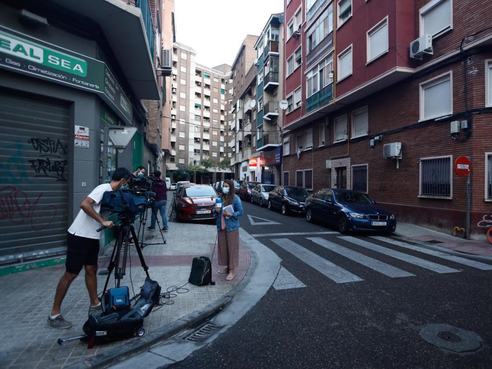 El suceso se produjo de madrugada en la calle de Domingo Ram de Las Delicias.