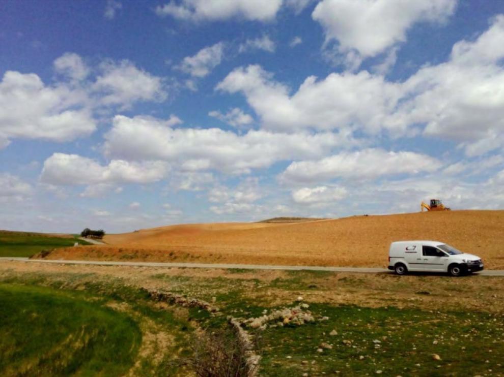 Imagen de la carretera que une Cetina y Calmarza