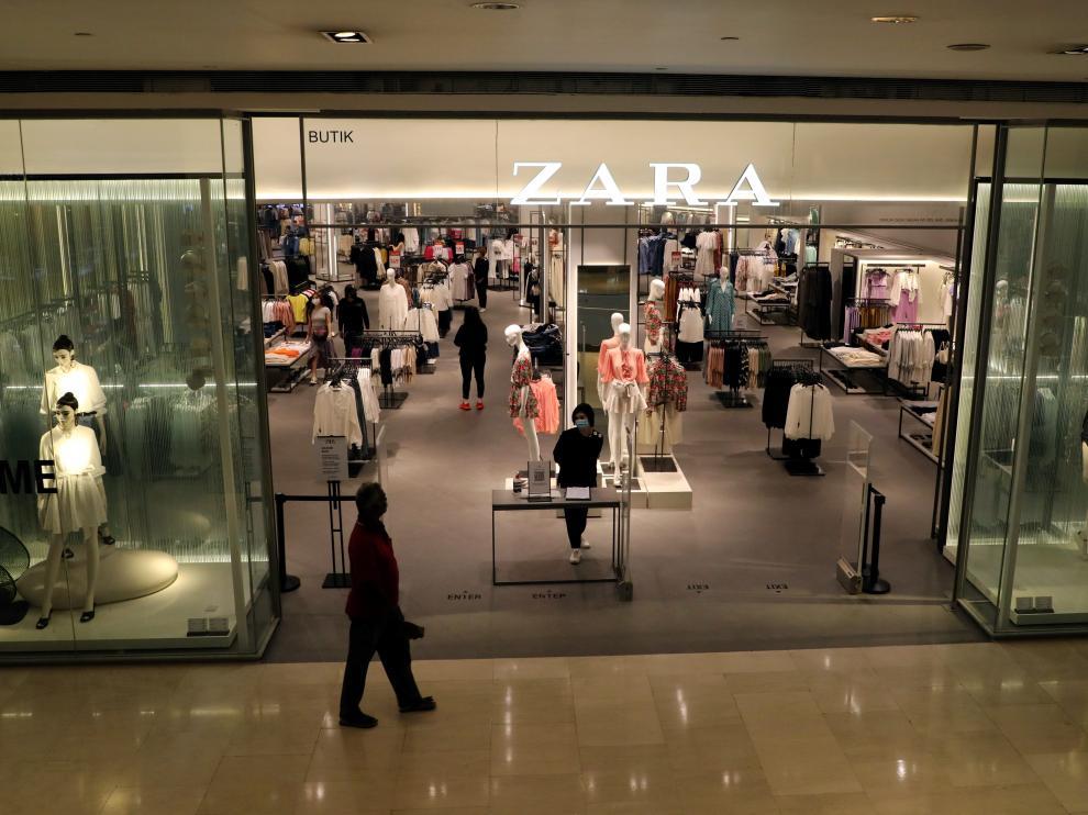 Una tienda de Zara en plena pandemia.