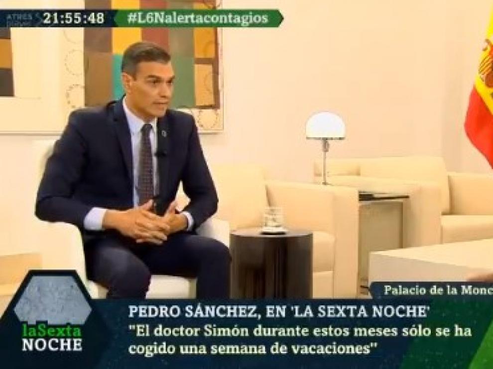 Sánchez, durante la entrevista en La Sexta.