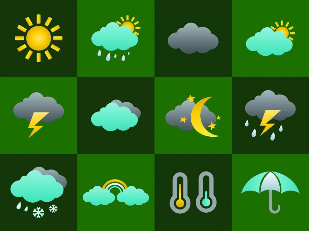 Iconos para el parte meteorológico.