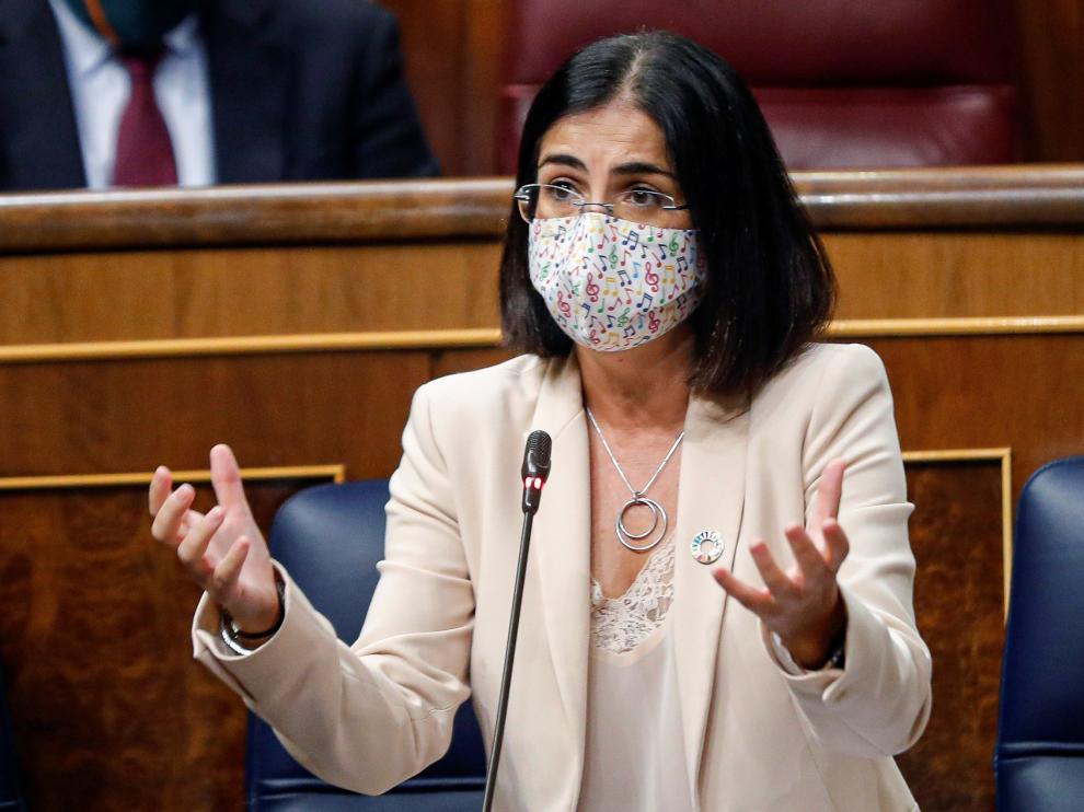 Carolina Darias, este miércoles, en el Congreso.