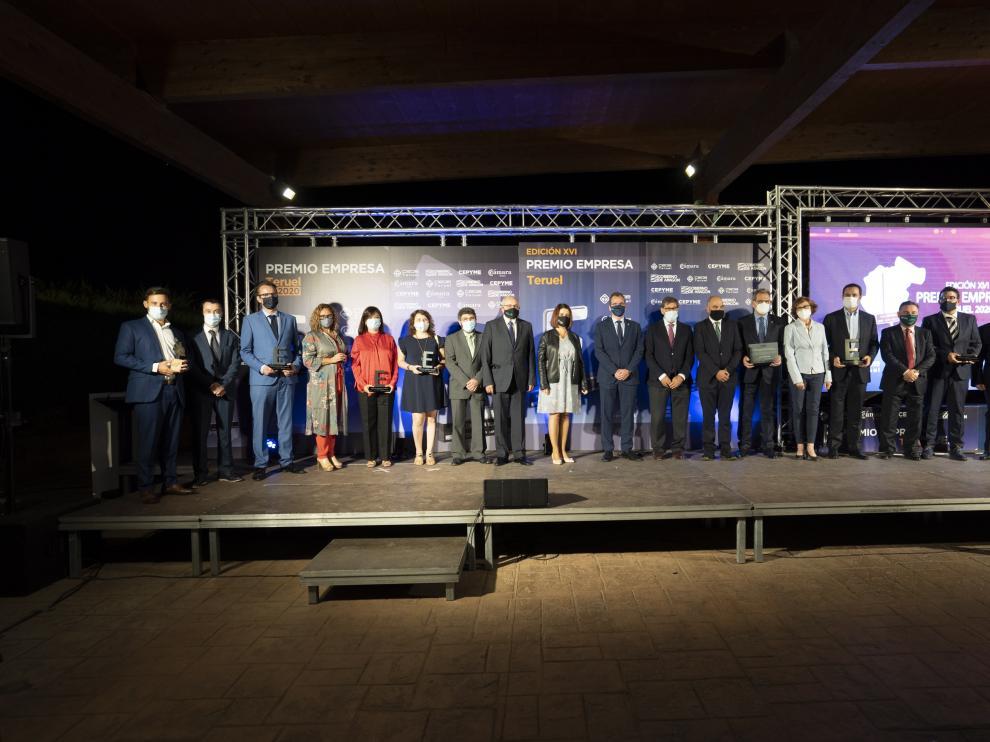 Entrega del premio empresa de Teruel a Sendin Teruel. Foto Antonio Garcia/bykofoto. 23/09/20 [[[FOTOGRAFOS]]]