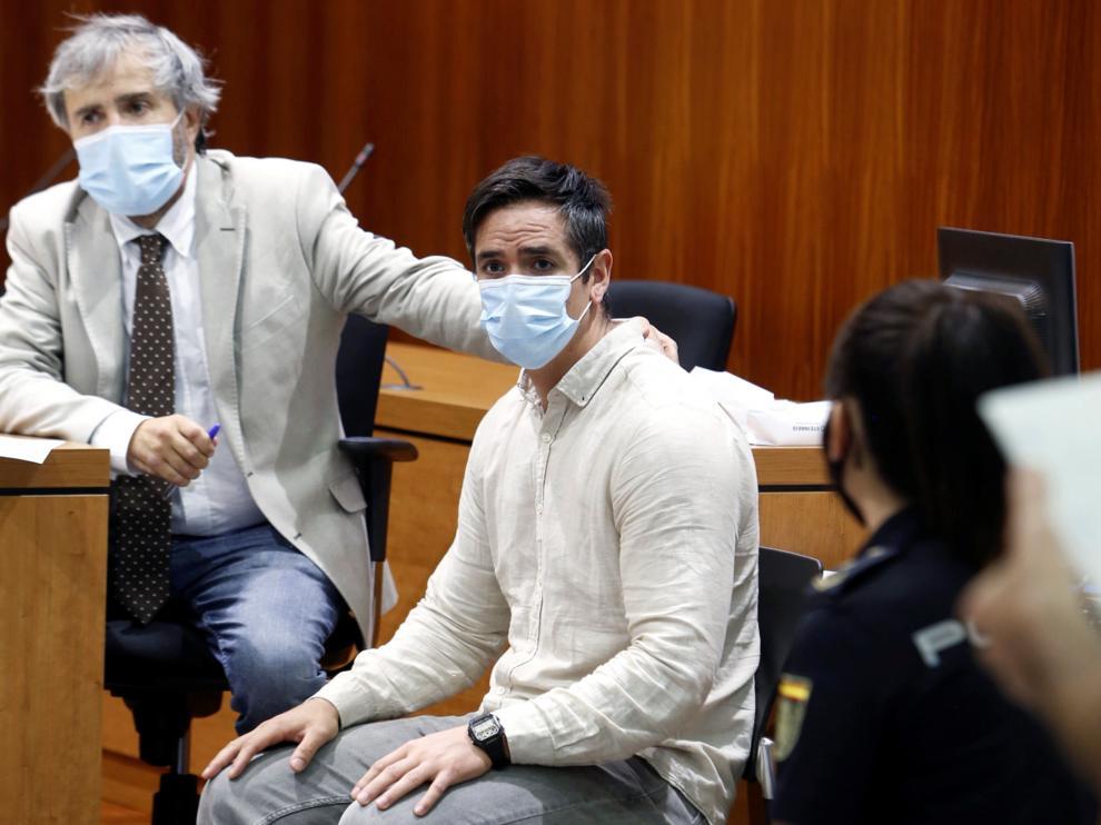 Rodrigo Lanza, en el momento de conocer que era condenado por asesinato.