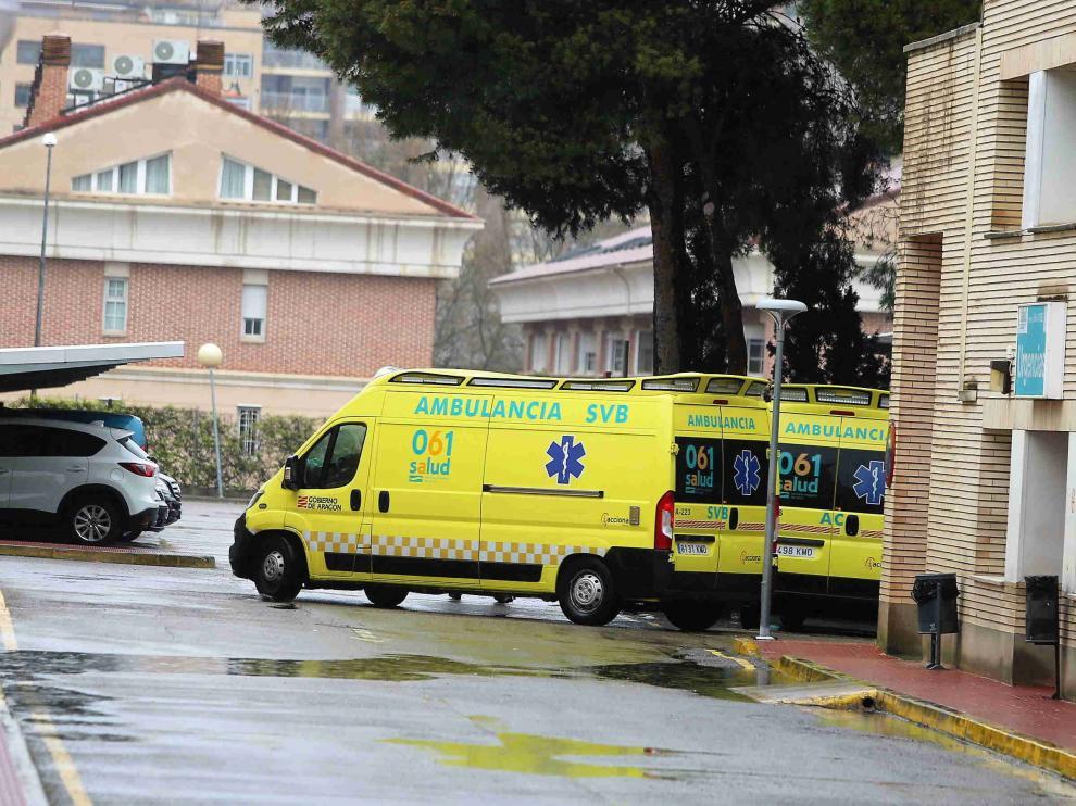 Entrada al servicio de urgencias del hospital San Jorge de Huesca.