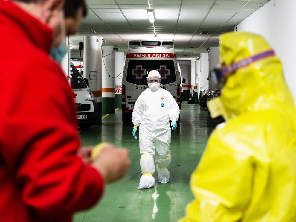 Labor social y sanitaria de Cruz Roja durante la epidemia del coronavirus