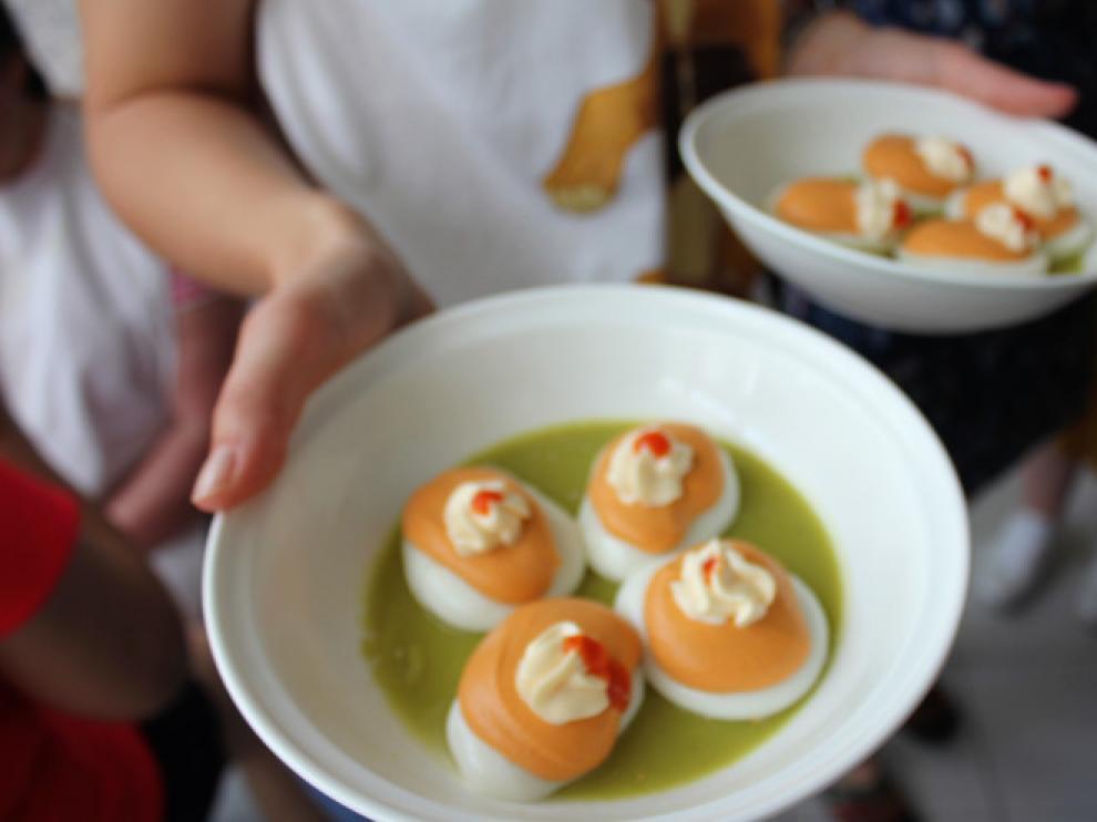 Muestra de alimentos texturizados a partir del recetario elaborado por Aspace.