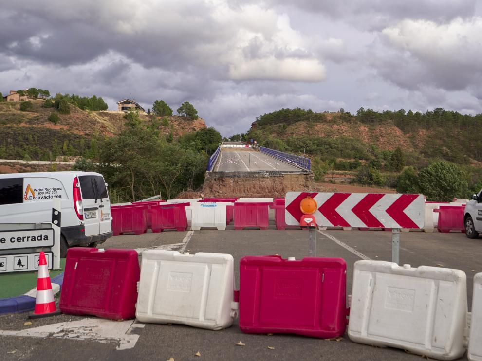 obras en la carretera de acceso a Teruel. foto Antonio Garcia/Bykofoto. 24/09/20 [[[FOTOGRAFOS]]]
