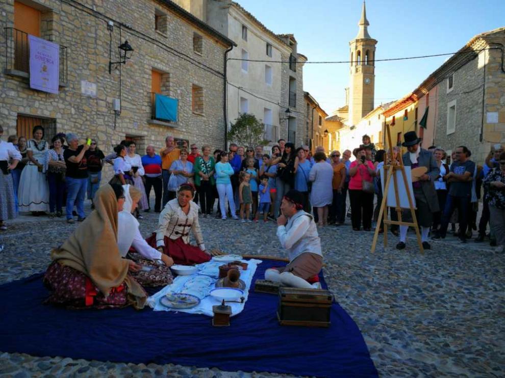 Una de las recreaciones del pasado año durante la Fiesta Goyesca. fotos: ayuntamiento de fuendetodos