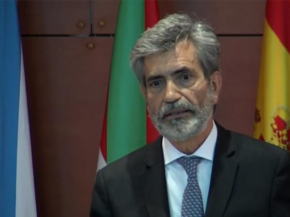El presidente del Tribunal Supremo y del Consejo General del Poder Judicial (CGPJ), Carlos Lesmes,