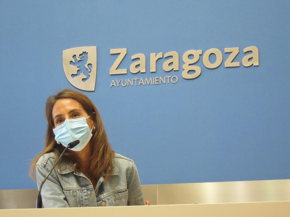 María Navarro, en el Ayuntamiento de Zaragoza.