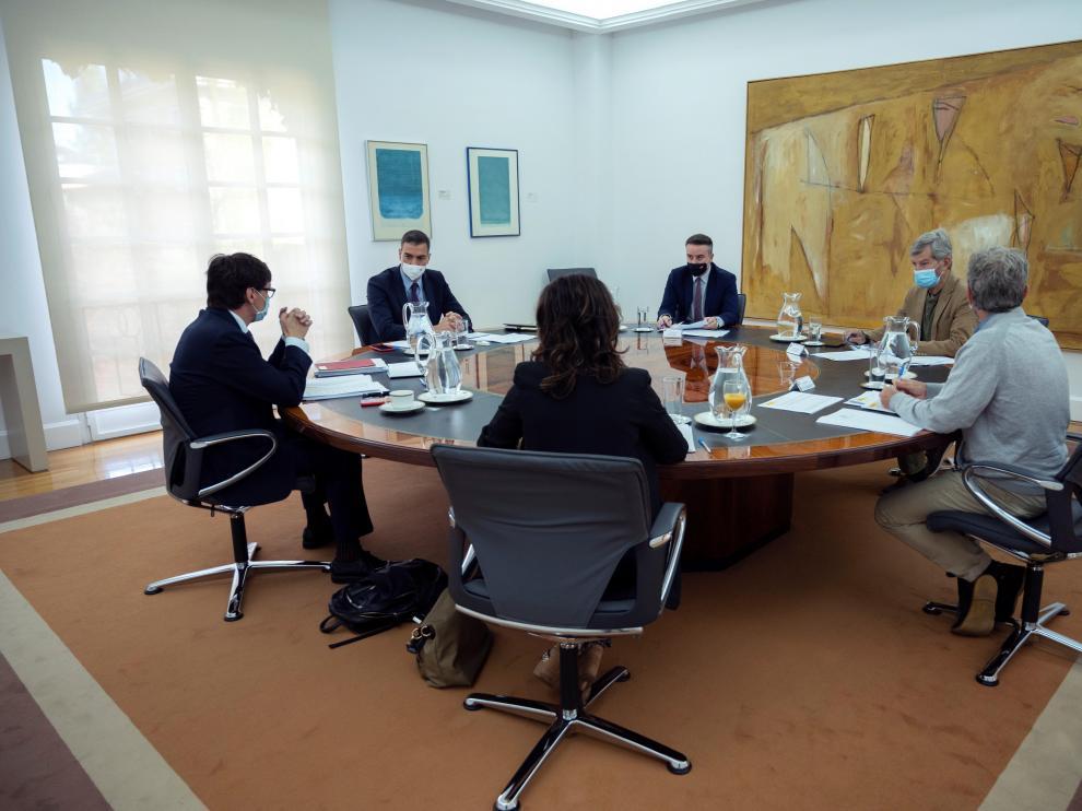 Reunión en Moncloa del comité de seguimiento de la pandemia