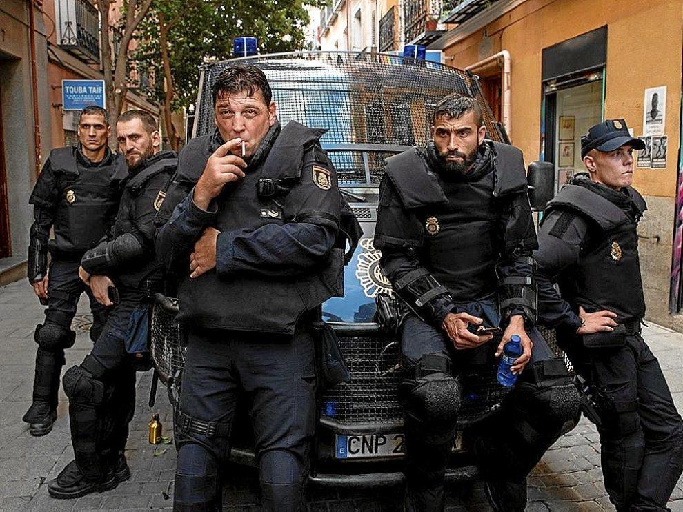 Una imagen promocional de 'Antidisturbios'.