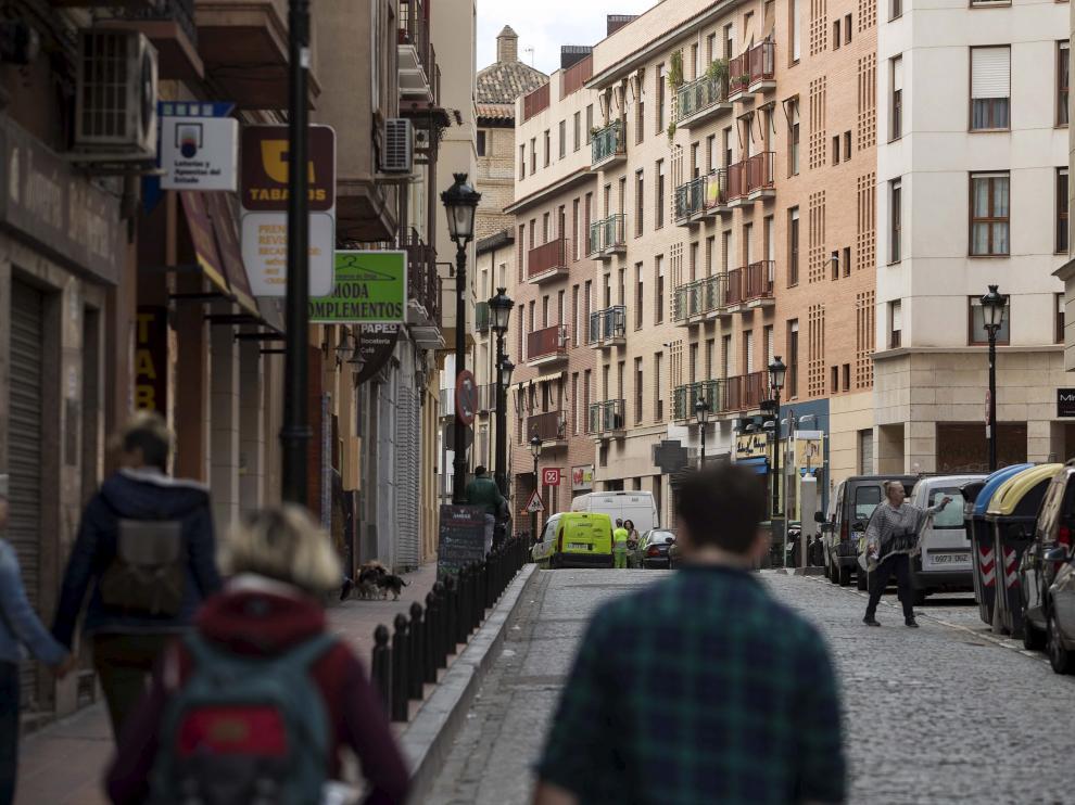 Imagen de archivo de la calle Predicadores de Zaragoza.