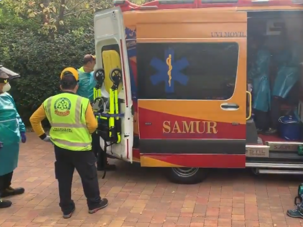 Ambulancia donde fue asistida