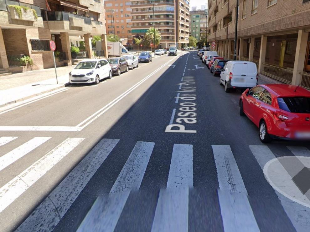 Paseo de los Rosales, en Zaragoza, donde han ocurrido los hechos.