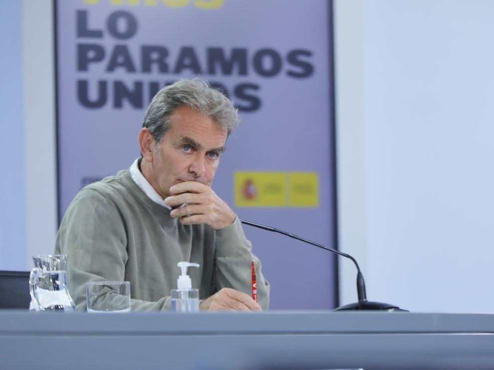 Fernando Simón en una rueda de prensa este lunes