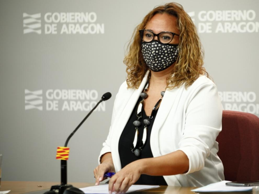 La consejera de Presidencia del Gobierno de Aragón, Mayte Pérez,