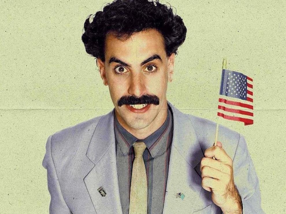 Sacha Baron Cohen, como Borat.