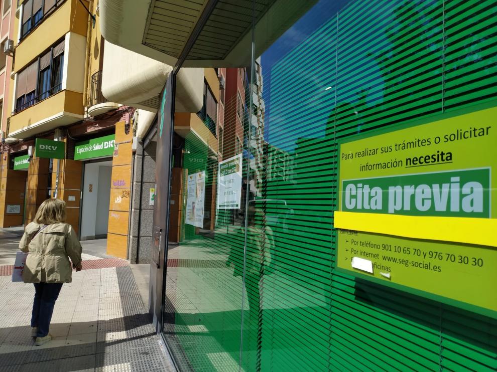 Oficina de la Seguridad Social en Zaragoza.