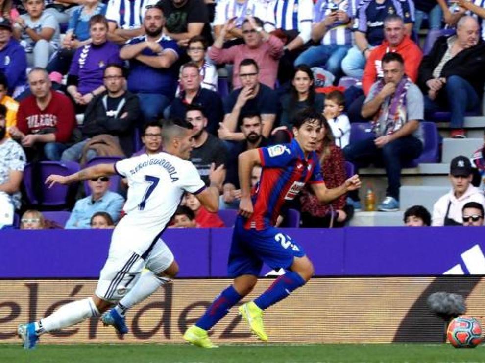 Álvaro Tejero, nuevo jugador del Real Zaragoza, en un partido con el Eibar.